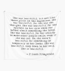 She was beautiful - F Scott Fitzgerald Wall Tapestry
