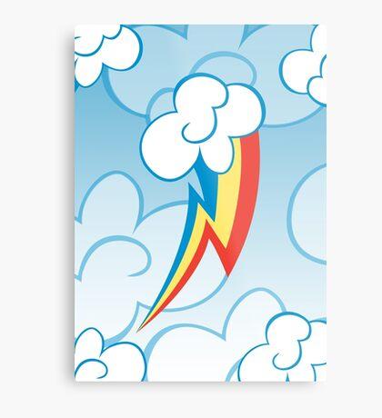 Rainbow Dash among the clouds Metal Print