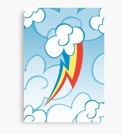 Rainbow Dash among the clouds Canvas Print