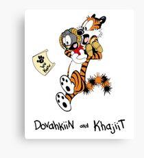 Dovahkiin and Khajiit We Know Canvas Print