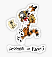 Dovahkiin and Khajiit We Know Sticker