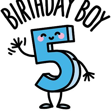 Funny boy five years old birthday number 5 kids gift T-Shirt by LaundryFactory