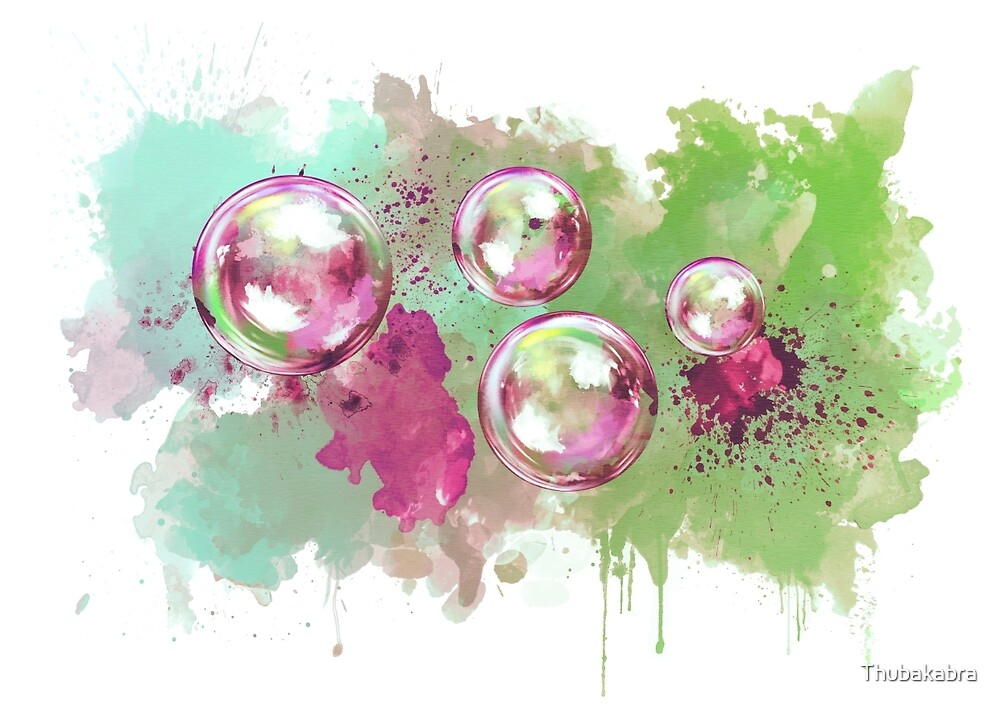 Quot Watercolor Soap Bubble Painting Quot By Thubakabra Redbubble