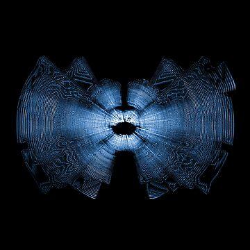 Blue Bat Echolocation by SpieklyArt