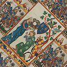 Knights in Battle, medieval art by edsimoneit