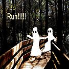 Ghosts Running from fear. by Rosalie Scanlon