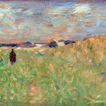 Georges Seurat A Summer Landscape by pdgraphics