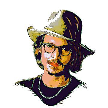 Johnny depp vector art  by NoraMohammed