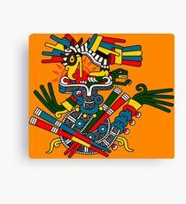 Eagle and Snake - Codex Fejervary Mayer 42 Canvas Print