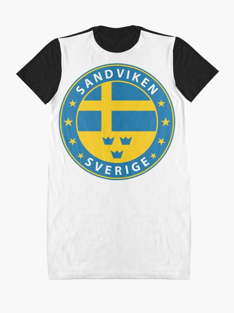 Alternative Ansicht von Sandviken, Sandviken Schweden, Sandviken Sverige, Sandviken Aufkleber, Stadt von Schweden T-Shirt Kleid