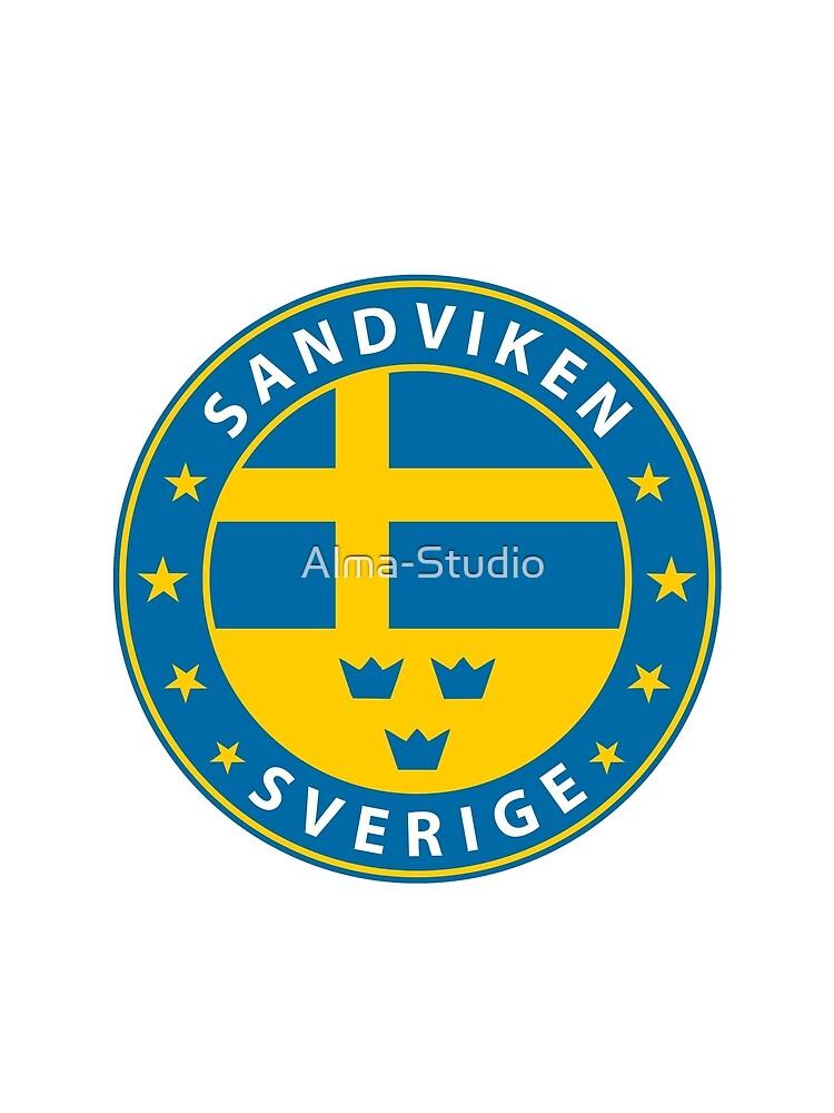 Sandviken, Sandviken Schweden, Sandviken Sverige, Sandviken Aufkleber, Stadt von Schweden von Alma-Studio