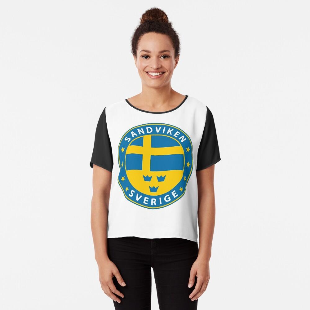 Sandviken, Sandviken Schweden, Sandviken Sverige, Sandviken Aufkleber, Stadt von Schweden Chiffon Top