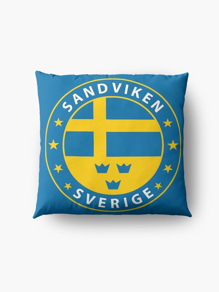 Alternative Ansicht von Sandviken, Sandviken Schweden, Sandviken Sverige, Sandviken Aufkleber, Stadt von Schweden Bodenkissen