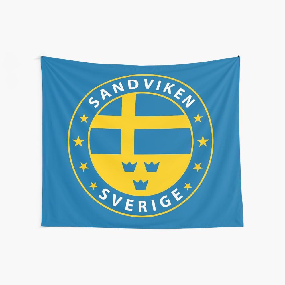 Sandviken, Sandviken Schweden, Sandviken Sverige, Sandviken Aufkleber, Stadt von Schweden Wandbehang