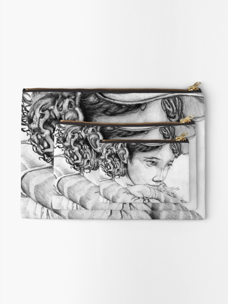 Alternate view of Clementine from The Walking Dead The Game Zipper Pouch