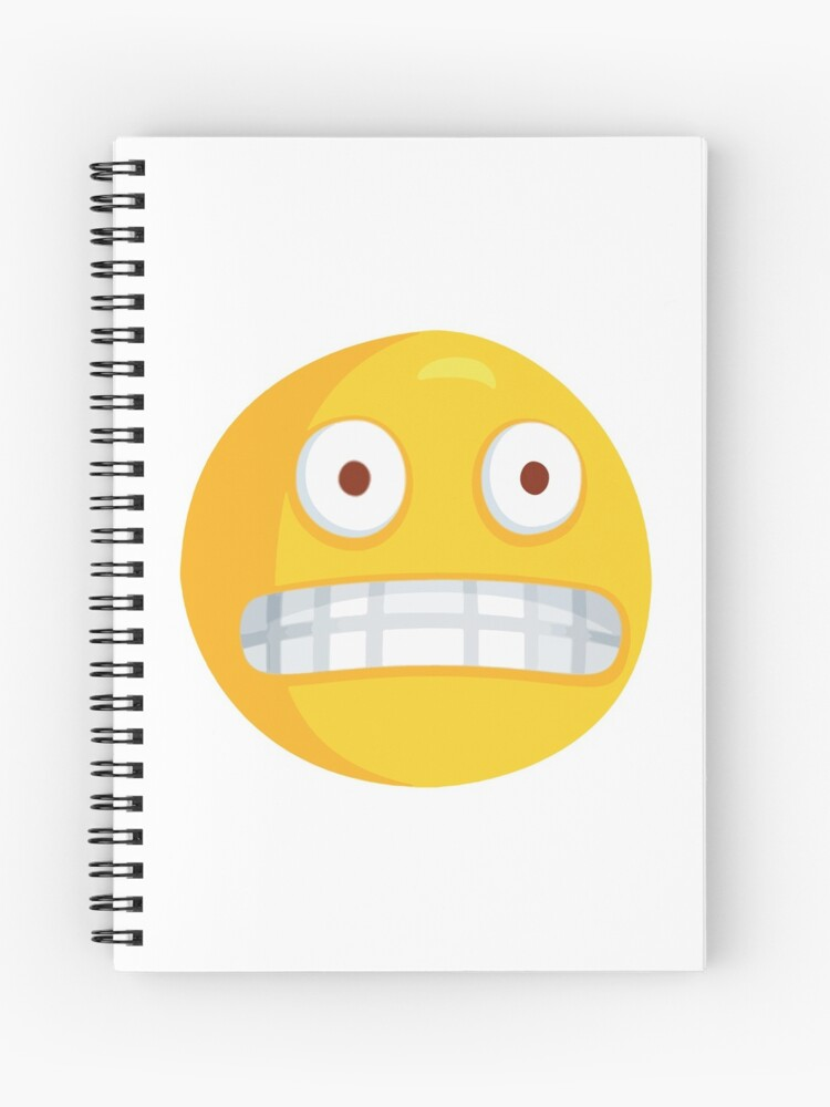 Grimacing Nervous Emoji | Spiral Notebook