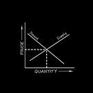 Supply and demand chart white on black by stuwdamdorp