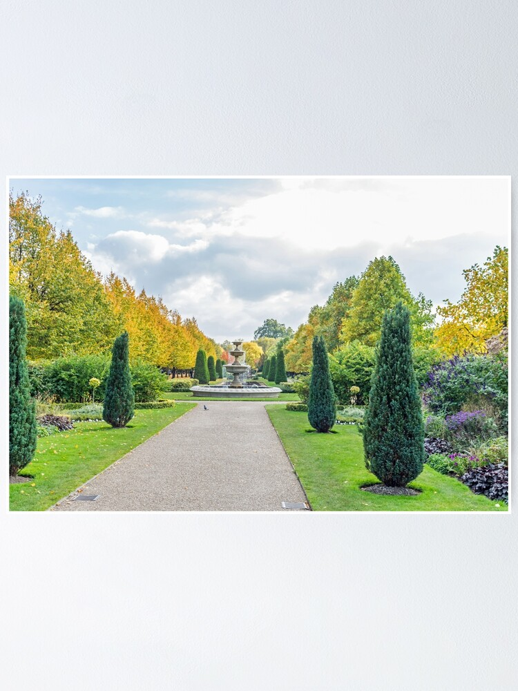 Alternate view of Autumn in the park Poster