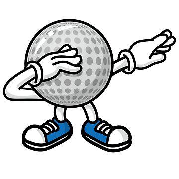 Funny dab dabbing golf ball golfer golf player tshirt gift by LaundryFactory