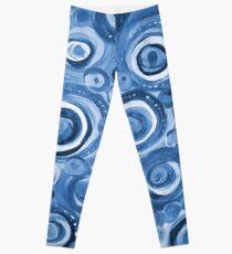 Kreise in Blau Leggings