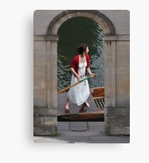 Punting on the Cam Canvas Print
