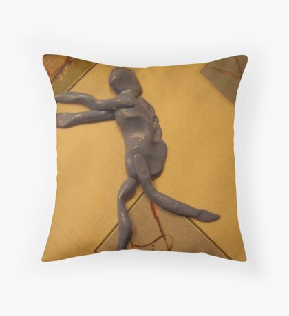 Silly Putty Man! Throw Pillow