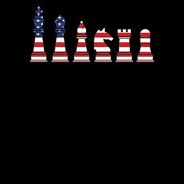 American Chess Flag V3 by TeeTimeGuys