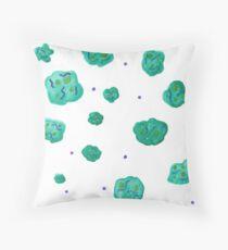 Teal Microbes - Teal Cells Floor Pillow