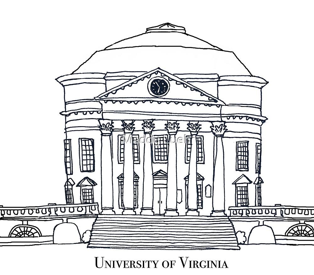 Rotunde der Universität von Virginia von maddyluehr