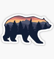 Bear wilderness forrest  Sticker