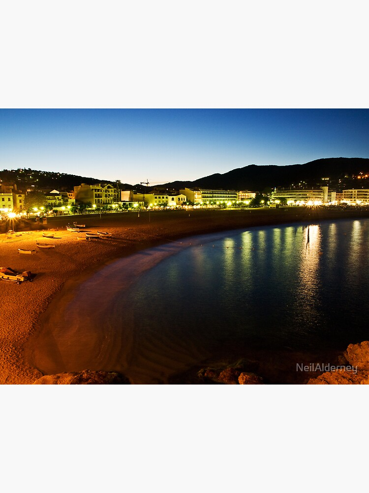 Tossa Beach at Night - Spain by NeilAlderney