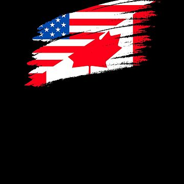 Canadian American Flag V6 by TeeTimeGuys