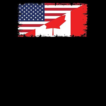 Canadian American Flag V7 by TeeTimeGuys