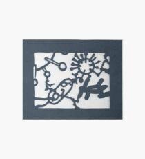 Paper cut of microbes. Art Board
