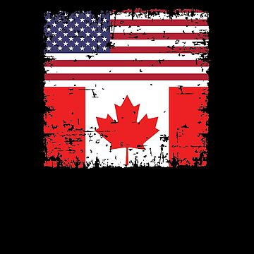 Canadian American Flag V9 by TeeTimeGuys