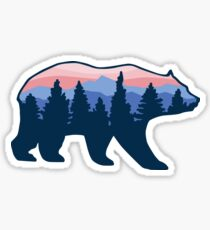 Bear Roaming den Wald Sticker