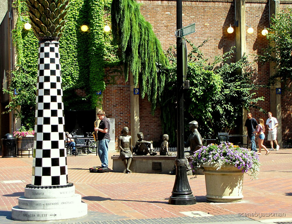 Downtown Eugene Mall - Oregon by scenebyawoman