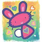 Raspberry Love Bunny by Christine Jopling