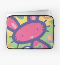 Raspberry Love Bunny Laptop Sleeve