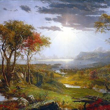 Jasper Francis Cropsey Autumn On the Hudson River by pdgraphics