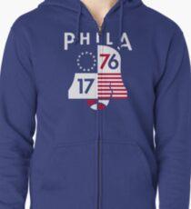 Phila Bell 1 Zipped Hoodie