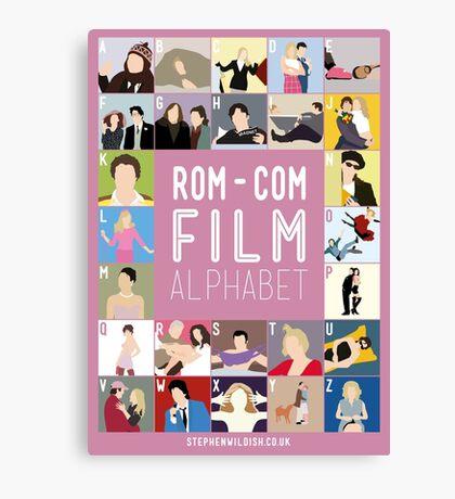 Rom Com Film Alphabet Canvas Print