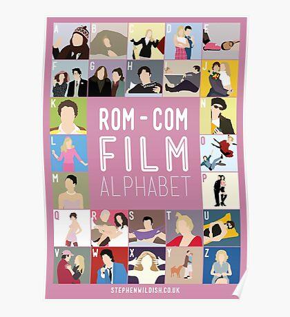 Rom Com Film Alphabet Poster