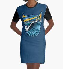 Wave Art Graphic T-Shirt Dress