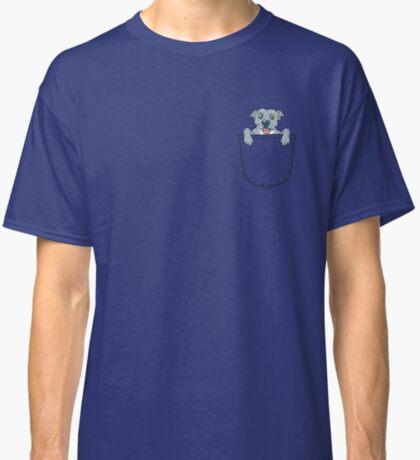 Blue Nose Pocket Pit Bull  Classic T-Shirt