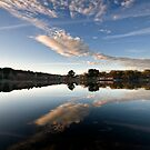 Lake reflections - Daylesford by Victor Pugatschew
