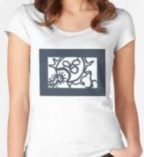 White Blood Cell Paper Cut Women's Fitted Scoop T-Shirt