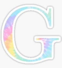 Rainbow Tie Dye G Sticker