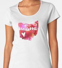 Miami-Universität - Miami, Ohio - Aquarell-Herz Ohio Premium Rundhals-Shirt