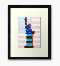 Statue of liberty / USA Framed Print
